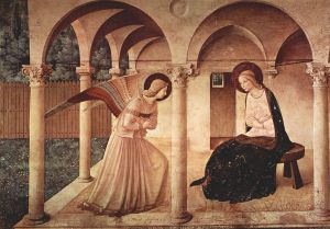"""Gabriel Greets Mary with """"Hail Full of Grace"""""""