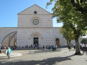 Basilica of Saint Clare - where St. Clare is entombed