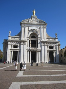 Basilica of Santa Maria degli Angeli -- the Basilica is build around the church St. Francis repaired and lived in