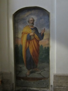 "St. Peter on Appian Way in Church ""Domine Que Vadis?"""