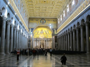 Looking towards the main altar of St. Paul Outside-the-Walls