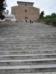 Looking Up the Steps to Santa Maria Ara Coeli