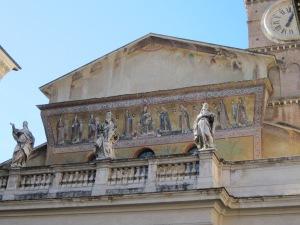 Mosaic above Basilica of Santa Maria