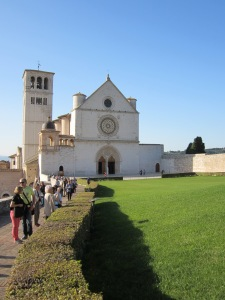 Papal Basilica of St. Francis of Assisi - upper level where St.Francis is entombed