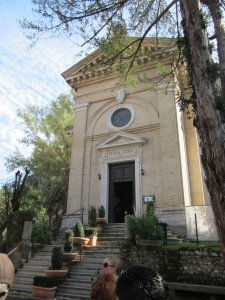 Scala Coeli - Church built over cell where St. Paul was  held before being beheaded.