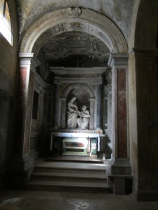Side Altar Santa Pudenziana -- Altar Contains Fragment of Wooden Altar St Peter Celebrated Mass on in Pudens House Church