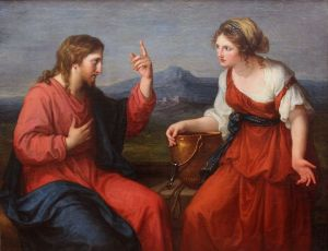 Christ with the Samaritan Woman at the Well Angelika Kaffman Wikimedia Commons