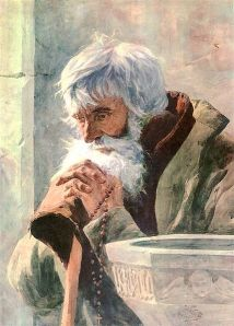 Old Man Praying by Falat Wikimedia Commons