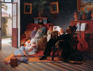 José Ferraz de Almeida Júnior Scene of Adolfo Pinto's Family Wikimedia Commons
