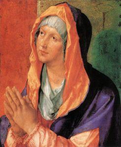 Blessed Virgin Mary in Prayer Durer Wikimedia Commons