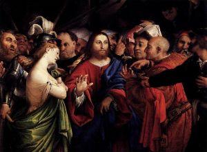 Lorenzo Lotto Christ and the Adulteress Wikiemedia Commons