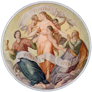 Schnorr von Carolsfeld Faith, Hope, and Charity Wikimedia Commons